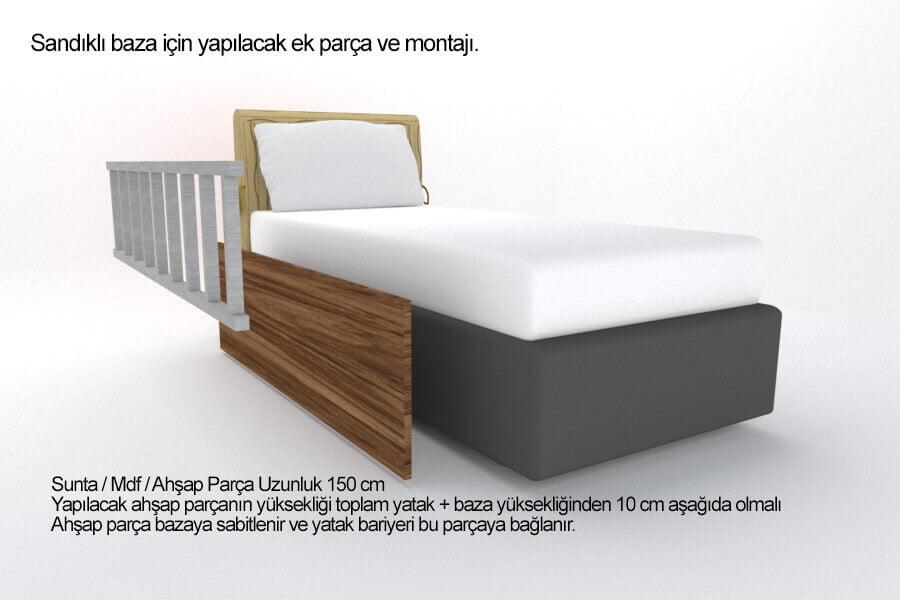 Yatak bariyeri baza montaj