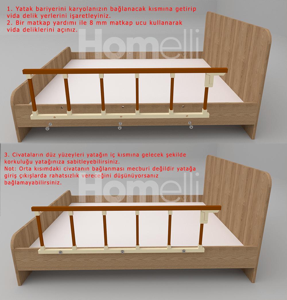 Yatak bariyeri korkuluğu montajı