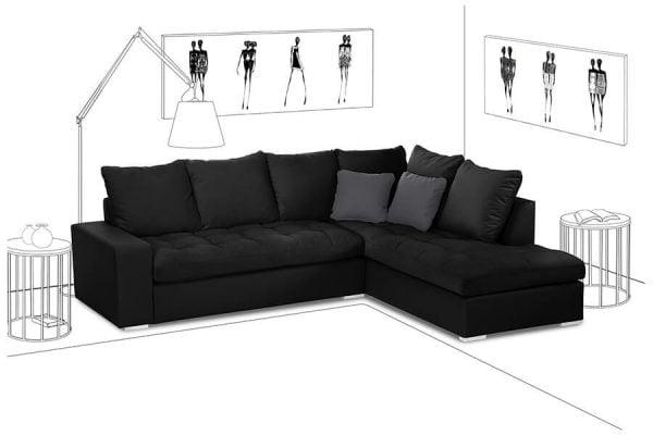 Siyah köşe koltuk modelleri