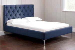 Nevedo lacivert karyola yatak modelleri