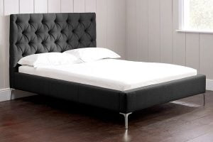 Nevedo siyah kumaş yatak modelleri