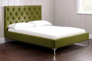 Nevedo yeşil yatak kapitone