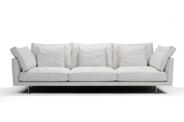 Marte beyaz kumaş koltuk