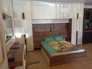 Yatak üstünde dolap tasarımları