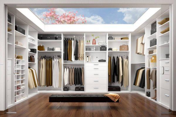 Giyinme Odası Dolabı Modelleri Beyaz
