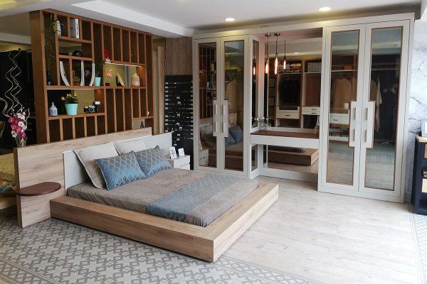 Ornella cam kapaklı yatak odası takımı