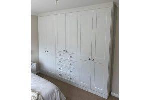 Grace beyaz yatak odası dolabı