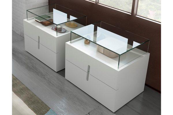 Beyaz camlı komodin modelleri
