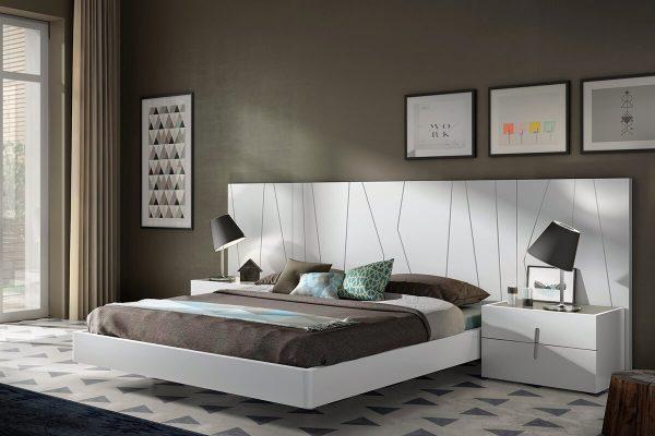 Kenarı oval yatak beyaz