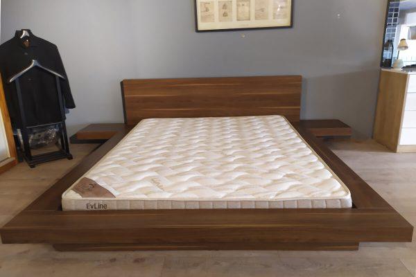 Lugo yere yakın alçak yatak çift kişilik