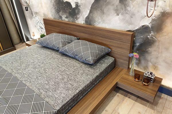 Alçak yatak başlıklı yatak modelleri