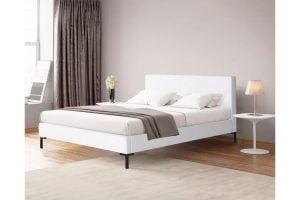 Briz düz beyaz kumaş yatak